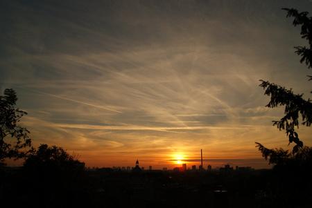 puesta de sol: puesta de sol