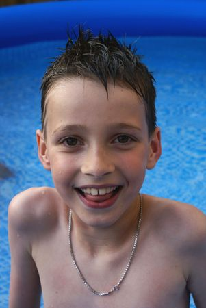 Portrait of boy in water. Stock Photo - 1342119