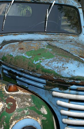 rusty car: Picture of an old rusty car.