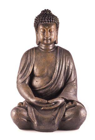 A sitting buddha isolated on a white background. photo