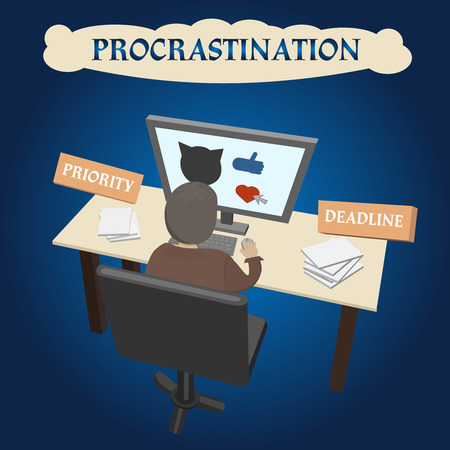 obligations: The tendency to the postponement of important and urgent cases , which leads to problems of life issues, default from obligations. Illustration