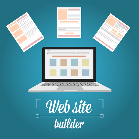prototyping: Web site builder and template prototyping Illustration