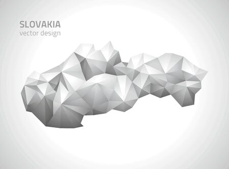 polity: Slovakia gray and silver map