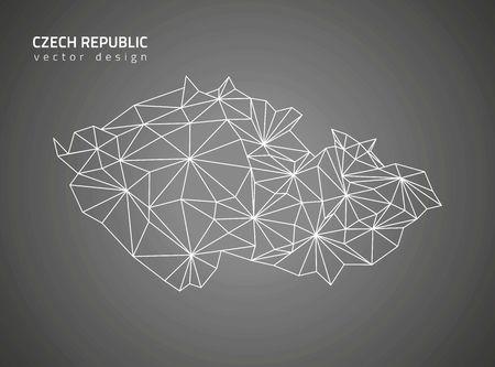 the czech republic: Czech Republic black contour maps