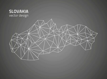 savour: Slovakia black outline maps