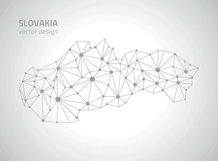 outline maps: Slovakia Gray outline maps