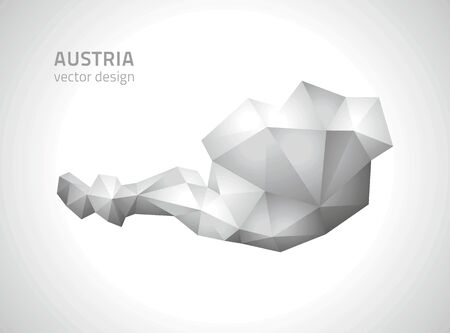 polity: Austria gray triangle perspective maps