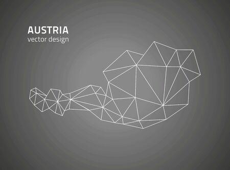 outline maps: Austria black outline maps