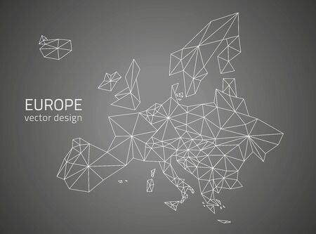 Europe vector map noir
