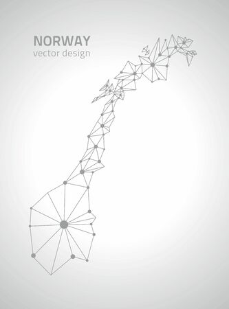 savour: Norway gray vector outline maps