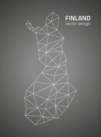 finland: Finland vector black outline maps