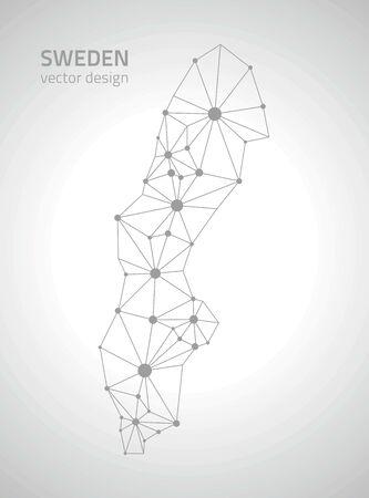 sweden: Sweden contour perspective vector maps