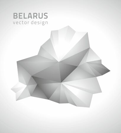 transverse: Belarus gray vector polygonal map