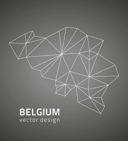 polity: Belgium Gray polygonal vector map