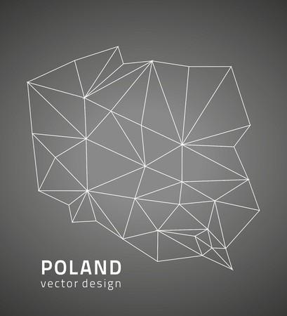 savour: Poland gray vector map