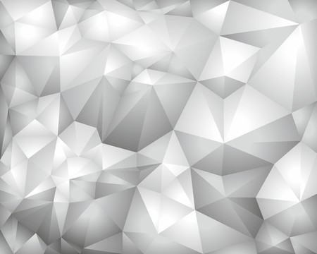 hoary: Grey vector polygonal background