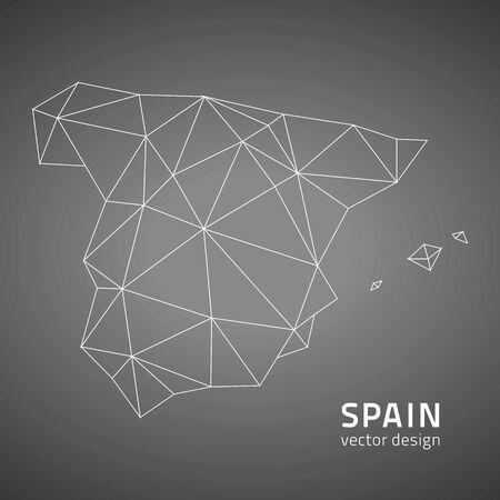 contour: Spain black contour maps