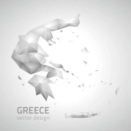 polity: Greece vector polygonal modern map of Europe