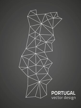 polity: Portugal black triangle vector contour map