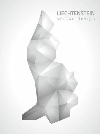 lichtenstein: Lichtenstein polygonal silver triangle vector map