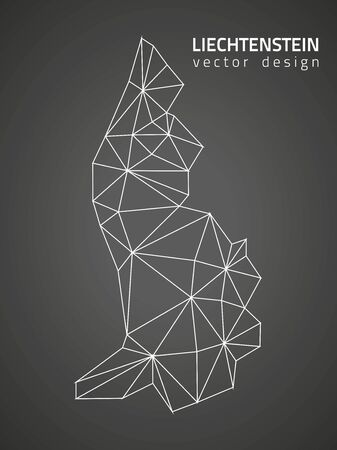 lichtenstein: Lichtenstein triangle perspective vector maps Illustration