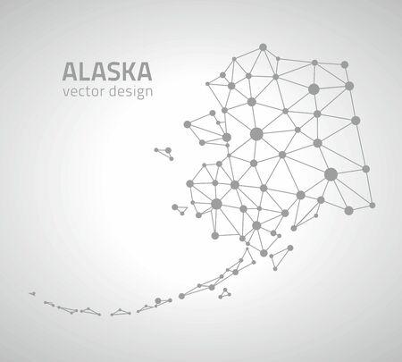transverse: Alaska dot gray contour maps