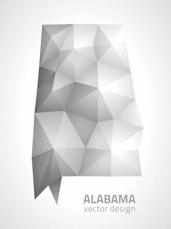Alabama gray triangle polygonal map