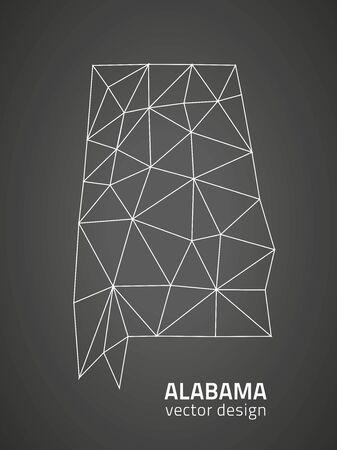 savour: Alabama black triangle perspective maps Illustration