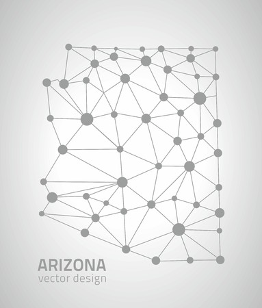 savour: Arizona dot silver contour maps