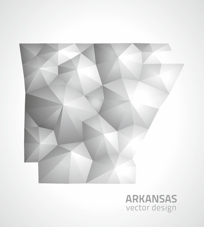 perspectiva lineal: mapas tri�ngulo gris poligonal Arkansas Vectores