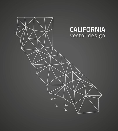 California black triangle perspective map
