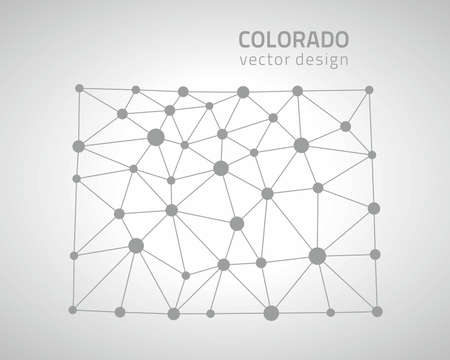 denver colorado: Colorado dot gray polygonal map