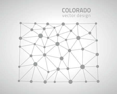denver: Colorado dot gray polygonal map