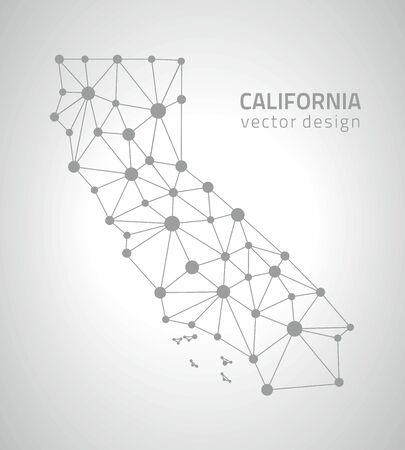 perspectiva lineal: mapas de contorno del tri�ngulo de puntos California
