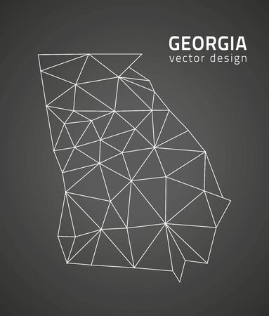 georgia: Georgia mosaic black perspective vector maps