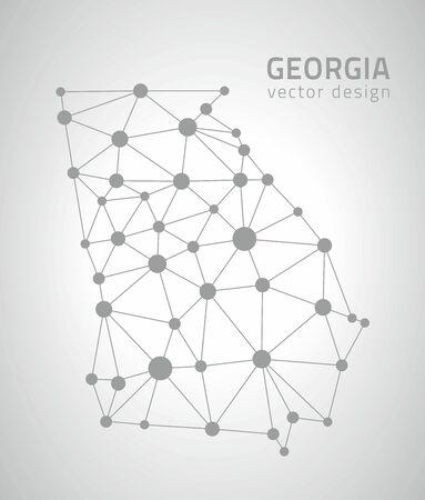 Georgia vector gray dot triangle contour maps