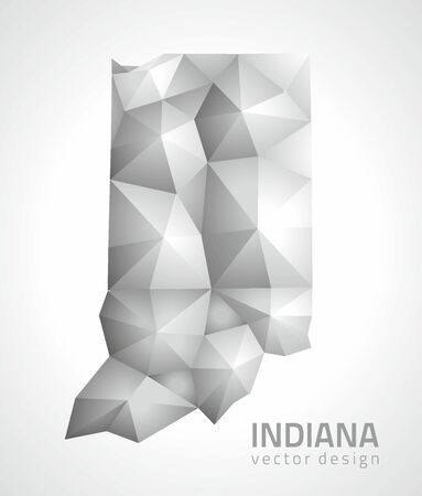 Indiana gray triangle perspective vector maps