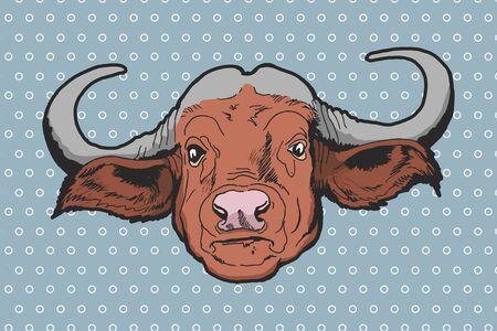 buffalo bison: Buffalo - American Bison Vector hand-drawn illustration