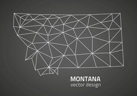 Montana black triangle vector polygonal outline maps