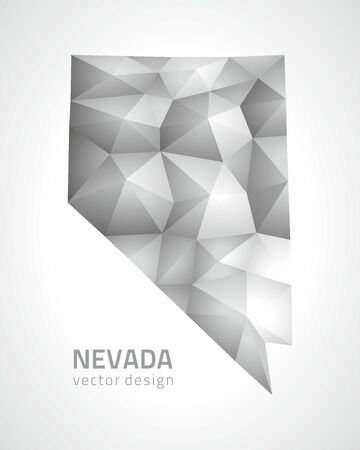 Nevada vector polygonal mosaic gray triangle perspective map