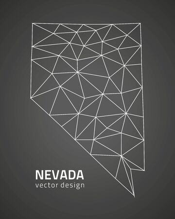 Nevada black and dark vector triangle trends contour maps Çizim