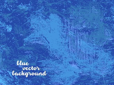 obnoxious: Blue vector background with grunge structure Illustration