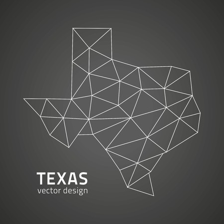 Texas black triangle vector polygonal outline maps