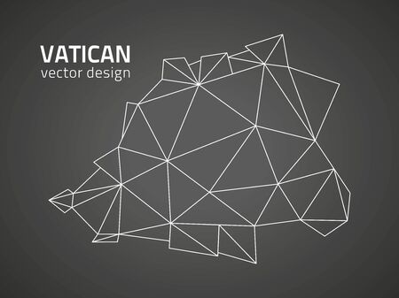 Vatican vector polygonal outline black triangle geometry map
