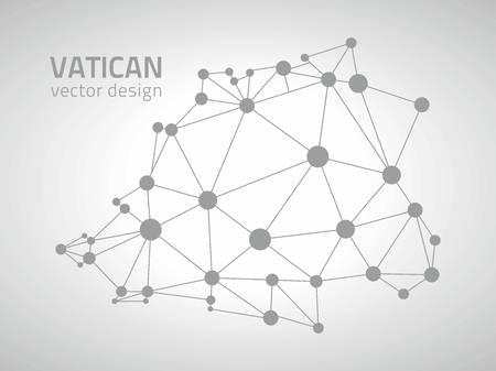 gray dot: Vatican vector contour gray contour dot mosaic map