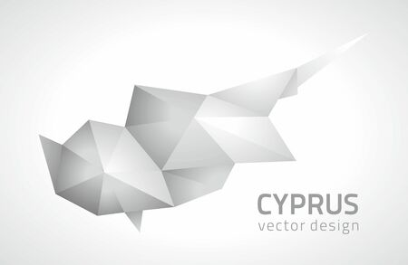 savour: Cyprus vector polygonal triangular gray contour maps
