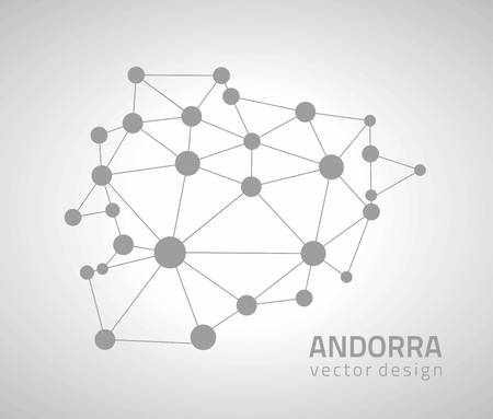 the transverse: Andorra gray triangle mosaic vector maps Illustration