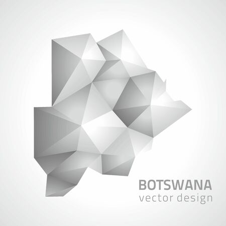 Botswana vector polygonal graphic modern gray triangle map
