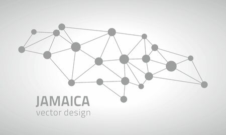 slant: Jamaica gray triangle vector graphic dot contour maps