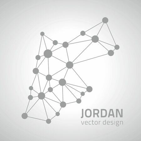 Jordan gray contour perspective vector map